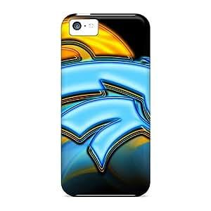Iphone 5c Case Cover - Slim Fit Tpu Protector Shock Absorbent Case (denver Broncos)
