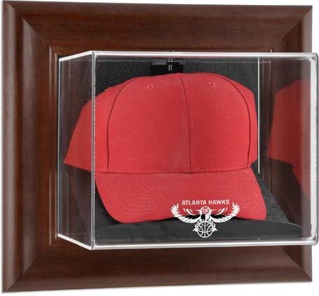(Atlanta Hawks Brown Framed Wall Mounted Cap)
