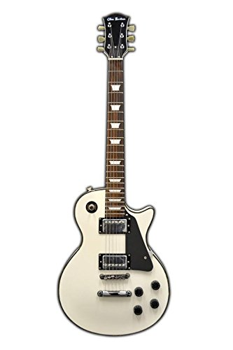 Full Size 39 Inch White/Black Solid Body Cutaway Electric Guitar with Gig Bag and Free Lessons & DirectlyCheap(TM) Pick