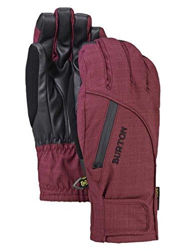 Burton Baker Under Gloves - Burton Baker 2 in 1 Under Glove Ski Snowboard Gloves Sangria, Women's Extra Small