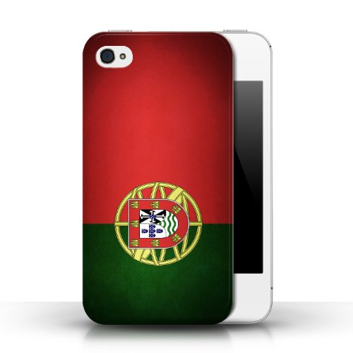 Etui / Coque pour Apple iPhone 4/4S / Portugal/portugais conception / Collection de Drapeau