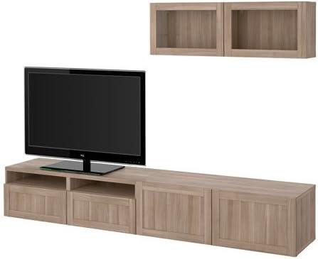 Ikea 12202.23811.3810 - Mueble de TV con cajones y Puertas de Cristal, Color Gris: Amazon.es: Juguetes y juegos