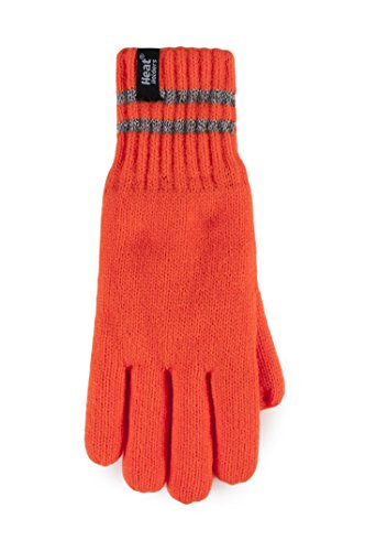 (Heat Holders - Mens Hi Vis Reflective Thermal Fleece Insulated Winter Gloves (L/XL, His-Vis)
