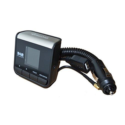 easydab V-DAB+ Universal Auto-DAB/Digital-Radio-Adapter, für Zigarettenanzünder