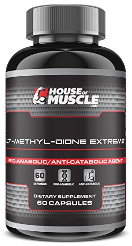 17-Methyl-dione Extreme -- Advanced Muscle Building Supplement -- 60 capsules