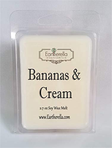 - BANANAS AND CREAM Natural Soy Wax break-apart tart melts, 2.7 oz, present gift for her, mother, friend, girlfriend