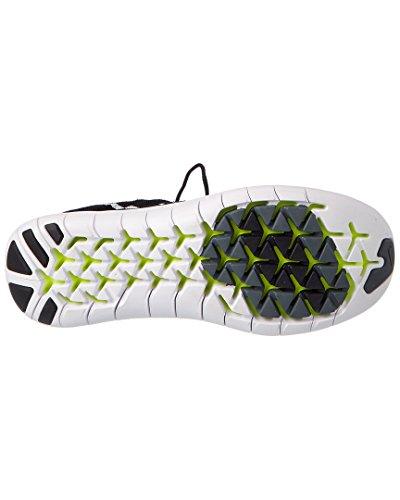 Nike Womens Gratis Rn Flyknit 2017 Løpesko Svart / Hvitt-volt-mørk Grå