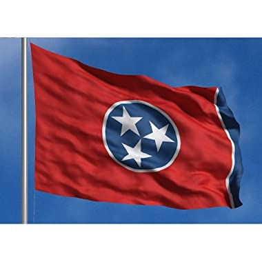 Allied Flag Outdoor Nylon State Flag, Tennessee, 3-Foot by 5-Foot