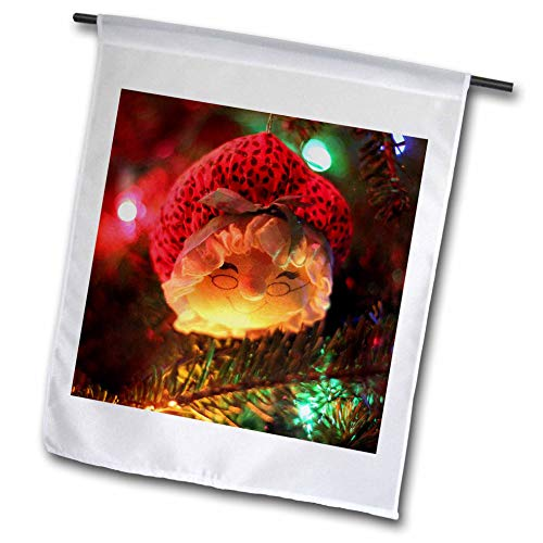 Stamp City - Holiday - Photograph of a Mrs. Claus Ornament Hanging from Our Christmas Tree. - 18 x 27 inch Garden Flag () - 3dRose fl_292986_2