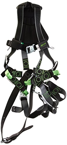Miller Revolution Full Body Safety Harness with Suspension Loop, Quick-Connectors & Removable Belt, Universal Size-Large/XL, 400 lb. Capacity (RDTSL-QC-B/UBK)