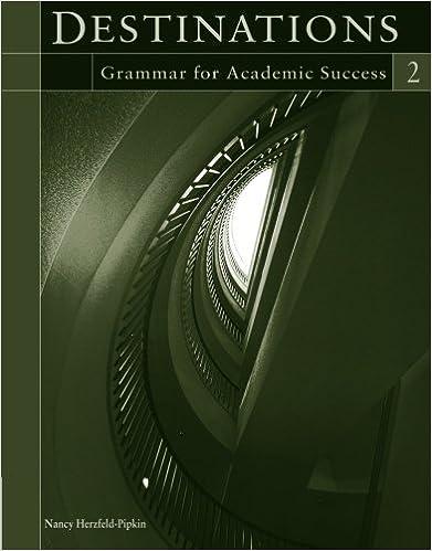 Destinations 2 Grammar For Academic Success Nancy Herzfeld