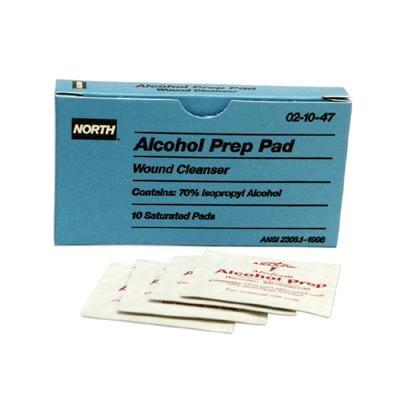 North by Honeywell Alcohol Prep Pad (10 Per Box)
