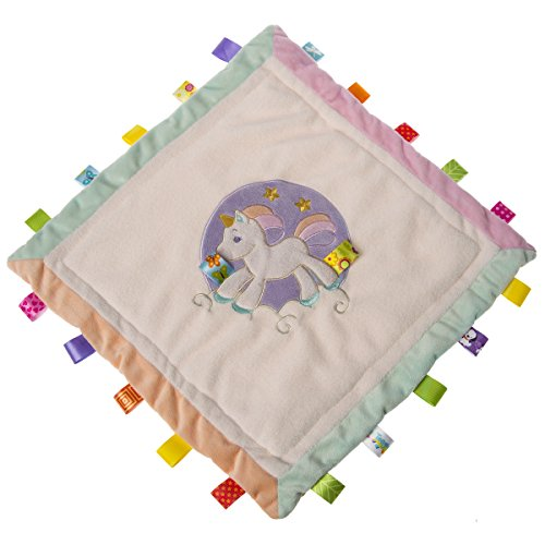 Mary Meyer Taggies Dreamsicle Unicorn Cozy Security Blanket, 16x16