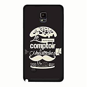 Special Humburger Design Moustaches Phone Case Fine Cover for Samsung Galaxy Note 4