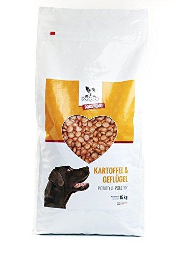 Dogs-Heart Geflügel & Kartoffel 15kg | mit hohem Fleischanteil | getreidefreies und hypoallergenes Hunde-Trocken-Futter