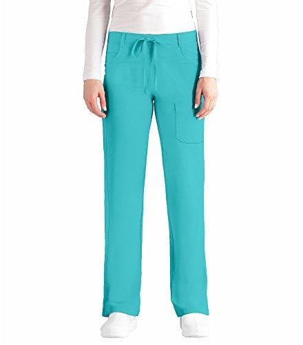 NRG by Barco Uniforms Women's Drawstring Waist Scrub Pant Large Petite ()