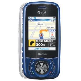 Pantech Matrix C740 Blue No Contract AT&T Cell Phone