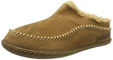 SOREL - Men's Falcon Ridge II House Slippers with Suede Upper and Wool/Polyester Lining Brown Size: 7