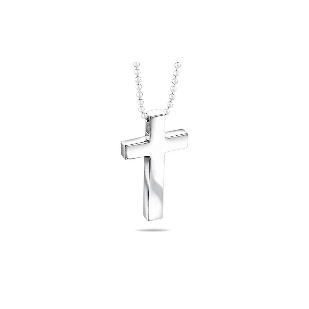 Plain Cross Pendant in Silver - Valentine's Day Sale