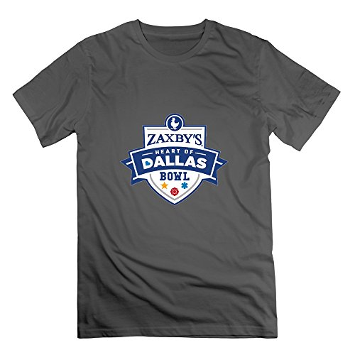 Crew-Neck Zaxby's Heart Of Dallas Bowl T-Shirt For Mens XL DeepHeather