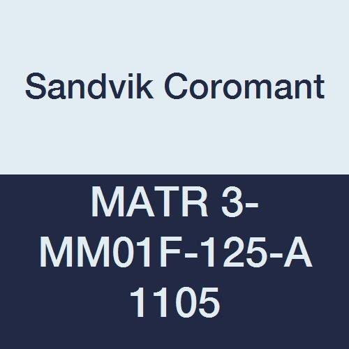 1105 Grade MATR 3-MM01F-125-A 1105 Sandvik Coromant Carbide Right Hand Cut CoroCut XS Insert for Thread Turning AlTiN