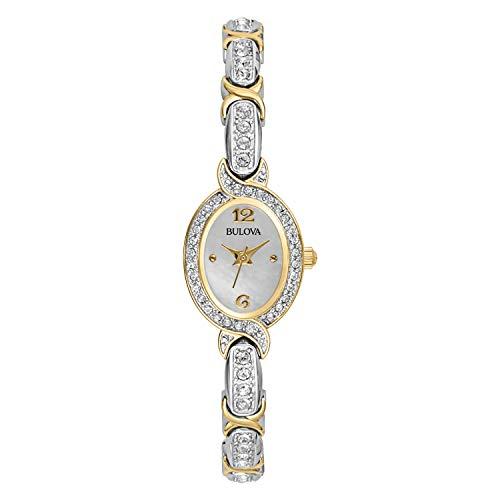 Bulova Women's 98L005 Quartz Silver and Gold Tone 22mm Watch ()