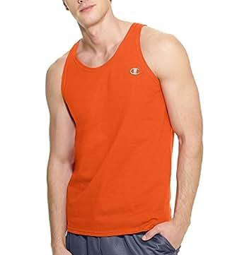 Champion Authentic Cotton Jersey Men's Tank Top Tiger Orange M
