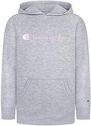 Kids Clothes Sweatshirts Champion Girls Youth Heritage Fleece Pull On Hoody Sweatshirt with Hood