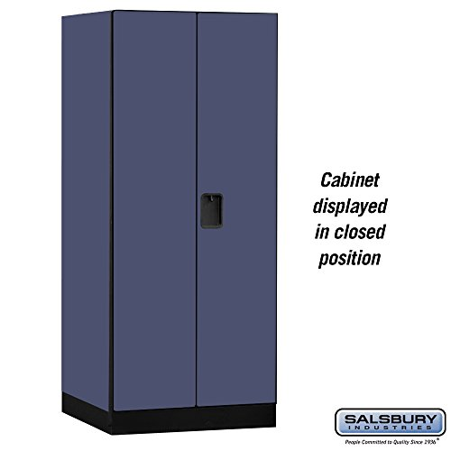 Salsbury Industries Designer Wood Storage Cabinet Wardrobe, 76-Inch-24-Inch, Blue by Salsbury Industries (Image #3)