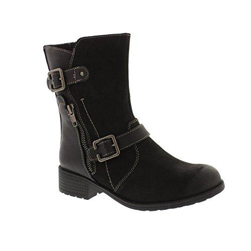 Earth Spirit Dayton - Black (Leather) Womens Boots
