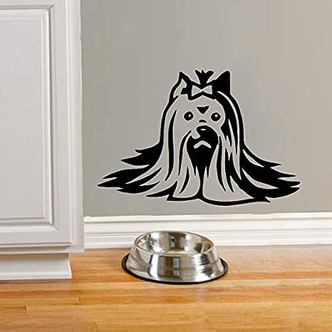 57X81 cm Yorkie etiqueta de la pared calcomanía Yorkshire Terrier ...