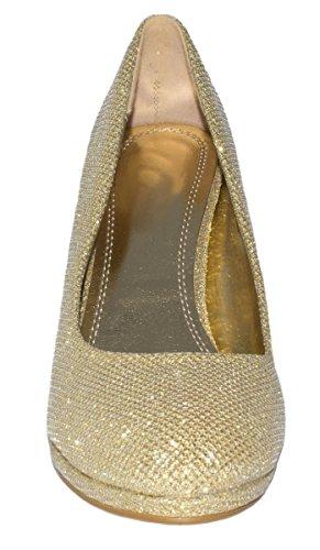Elara - Plataforma Mujer Dorado - dorado