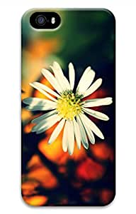 iPhone 5S Case, iPhone 5 Cover, iPhone 5S White Daisy Petals-Wallpaper Hard Cases