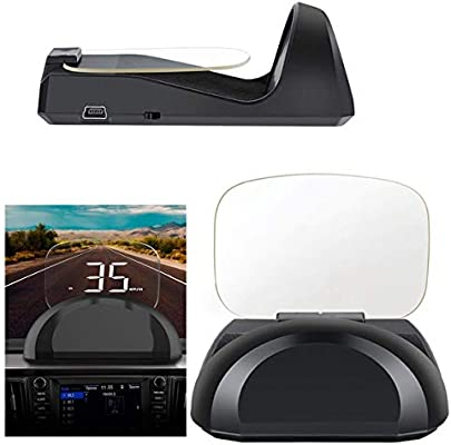 ZDZHU Pantalla Frontal 2 en 1 para automóvil, OBD2 GPS Sistema ...