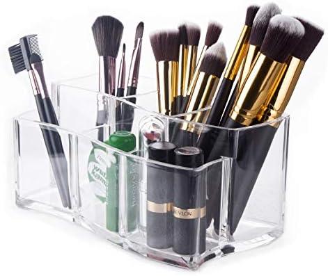 SMEJS Clear Cosmetic Makeup Organizer Transparent for Lippenstift, Pinsel, Flaschen und mehr Clear Case Display Rack Makeup Rack