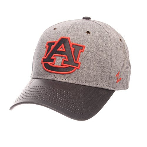Auburn Tigers Hat Cap (NCAA Auburn Tigers Adult Men The Supreme Cap, Adjustable, Gray)