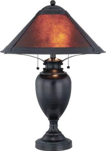 Bronze 2 Light Table Lamp With Mica Shade From The Mischa Collection