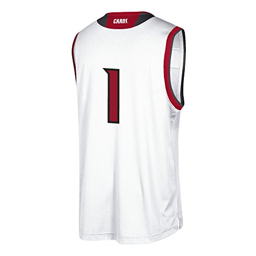 NCAA Louisville Cardinals Mens Replica Basketball Jerseyreplica Basketball Jersey, White, Large