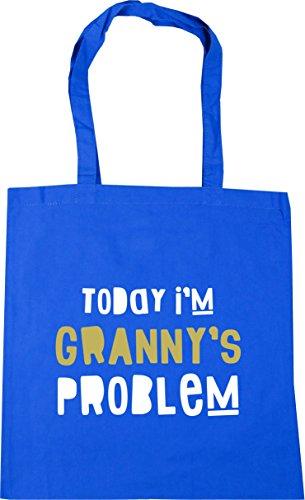 Tote x38cm Granny's litres Problem Shopping Beach Gym Blue I'm 42cm Bag HippoWarehouse Cornflower 10 Today FTnwv7Ex