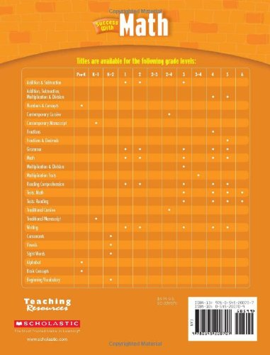 Amazon.com: Scholastic Success with Math, Grade 2 (Scholastic ...