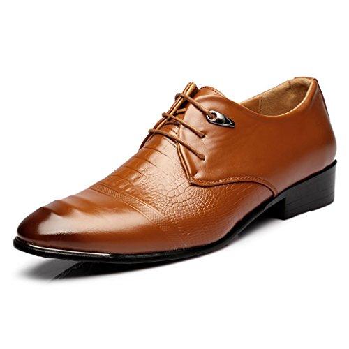 2017 Männer Business Leder Schuhe Casual Outdoor Leder Schuhe Spitz Gericht Shose 38-43 Brown