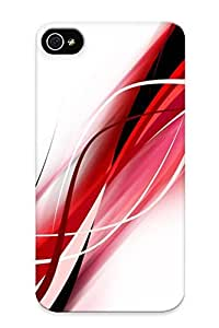 Christmas Day's Gift- New Arrival Cover Case With Nice Design For iPhone 5s Red, White And Black Waves