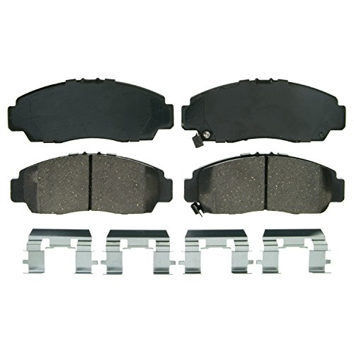 Wagner QuickStop ZD787 Ceramic Disc Pad Set Includes Pad Installation Hardware, Front (Acura Tl Brake Disc)