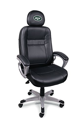 NFL New York Jets Leather Office Chair (York Jets New Colors)