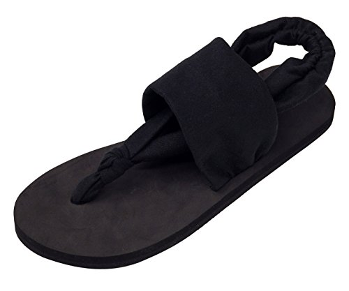 Chanclas Casual para Sandalias Negro Mujer Zapatillas Dedo Flip Mujer Talla 38 Verano para Playa para Flops con Eu Pulsera de Ipomoea dg6xqd