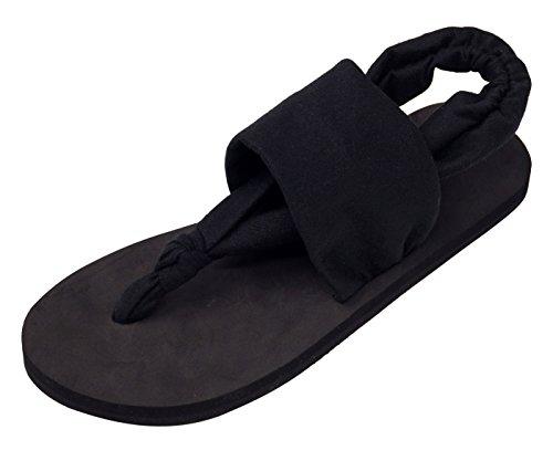 Negro Casual Verano Eu Chanclas Flip Flops Sandalias Playa Mujer Pulsera Talla Dedo para 38 para con de Zapatillas Ipomoea para Mujer pq6TfBxB
