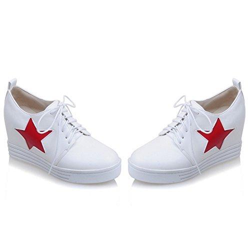 COOLCEPT Mujer Moda Cordones Court Zapatos Cerrado En aumento Zapatos (42 EU, Black)
