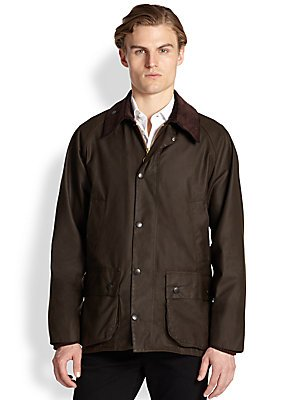 Barbour® Men's Classic Beaufort Jacket, Olive, 42 - Beaufort Waxed Cotton Jacket