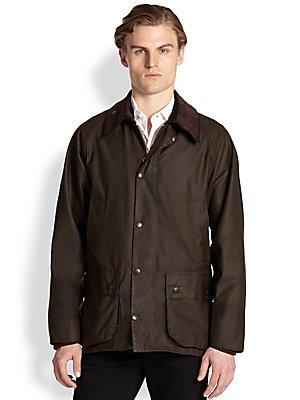 Barbour Men's Classic Beaufort Jacket, Olive, 42