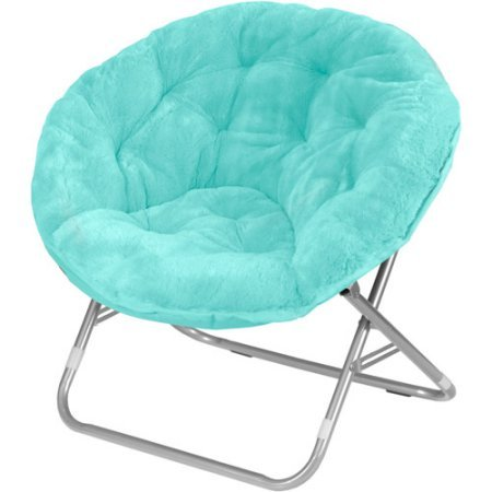 - Very Comfortable Mainstays Faux-Fur Saucer Chair (Aqua Wind)